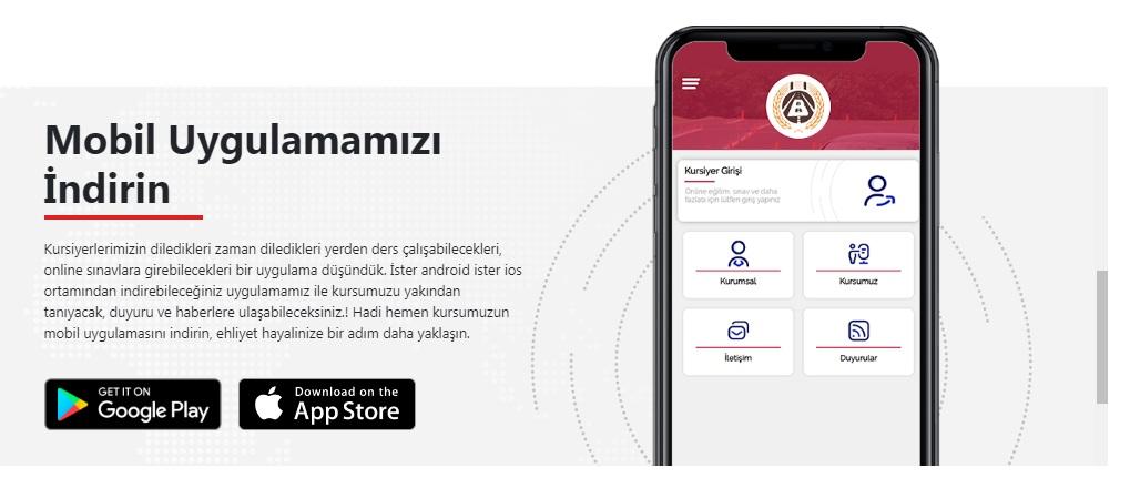 Web sitemiz ve mobil uygulamamız yayında.